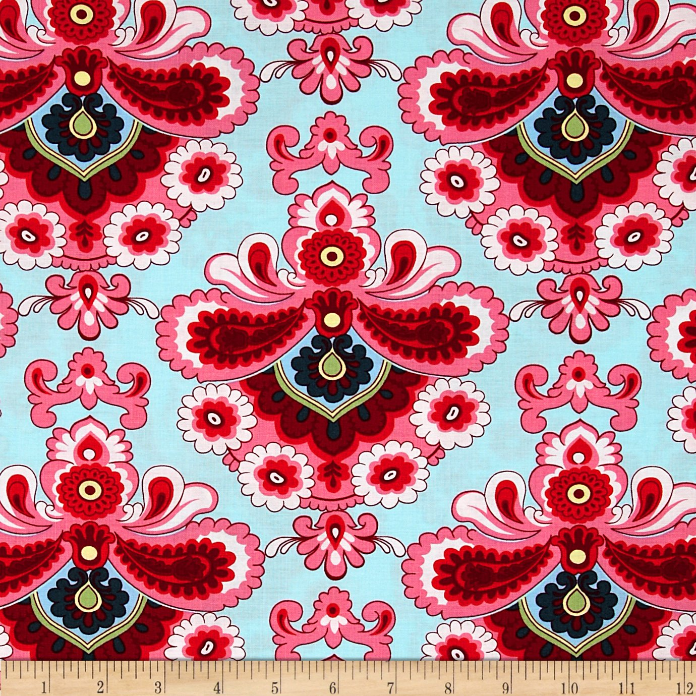 Amy Butler Home Decor Fabric Amazoncom Amy Butler Belle French Wallpaper Duck Egg Fabric By