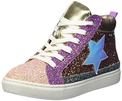 db8e4ebc89f Amazon.com | Steve Madden Girls' JHGHSTAR Sneaker, Bright Multi, 2 M ...