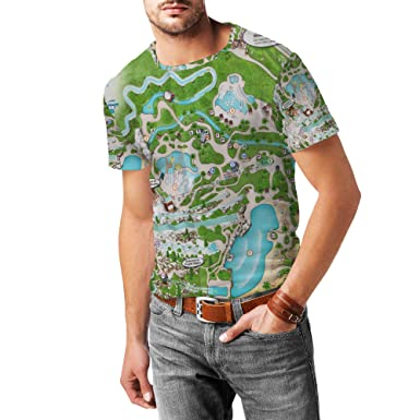 Amazon Com Blizzard Beach Map Mens Sport Mesh T Shirt Clothing