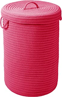 "product image for Colonial Mills Simply Home Solid H930A016X024 Hamper with lid, 16"" x 16"" x 24"", Magenta"