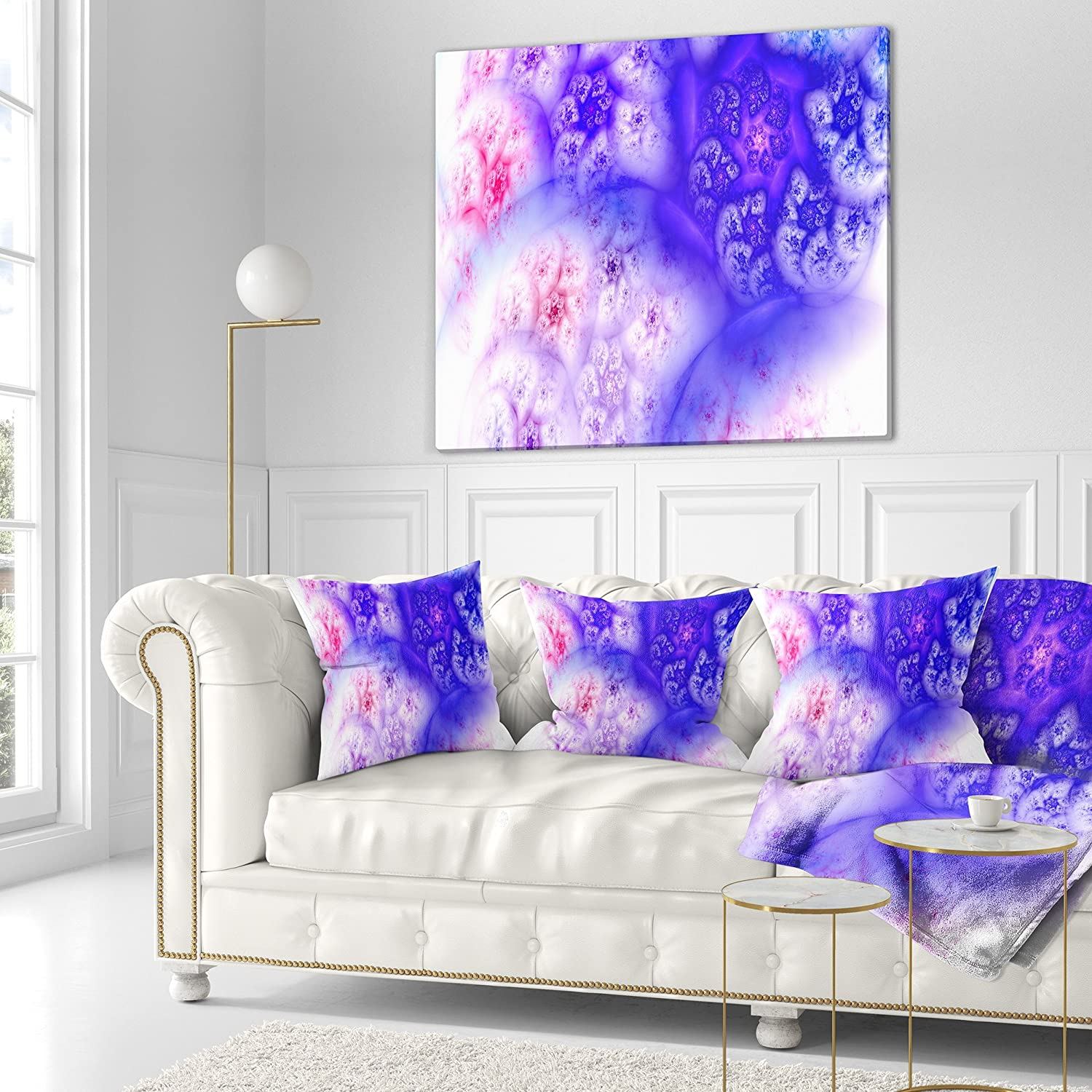 Sofa Throw Pillow 18 in x 18 in in Designart CU16081-18-18 Light Blue Magic Stormy Sky Abstract Cushion Cover for Living Room