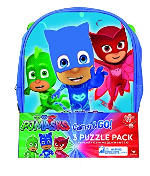 PJ Masks 3 Pack Jigsaw Puzzle Backpack - 24-Piece