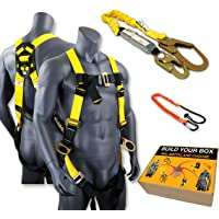 KwikSafety (Charlotte, NC) THUNDER COMBO | 3D Ring Full Body Safety Harness, 6' Lanyard, Tool Lanyard, ANSI OSHA PPE Fall Protection Arrest Restraint Equipment Universal Construction Roofing Bucket
