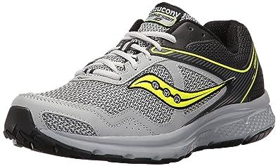 Saucony Men's Cohesion Running Shoe, Black/Grey/Citron, 10 M US