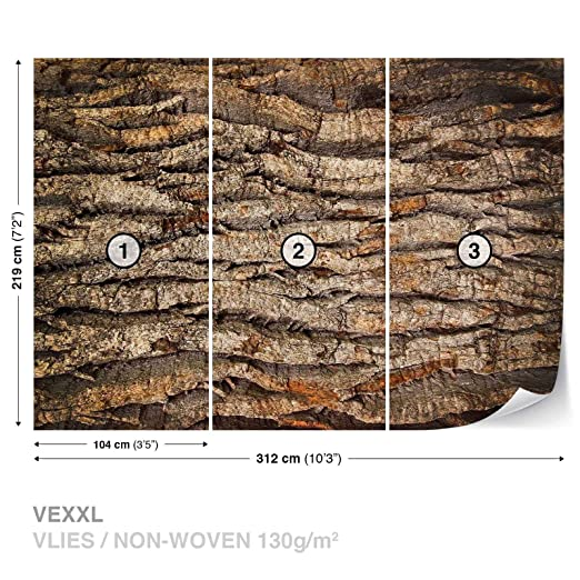 Review Tree Bark Wall Mural
