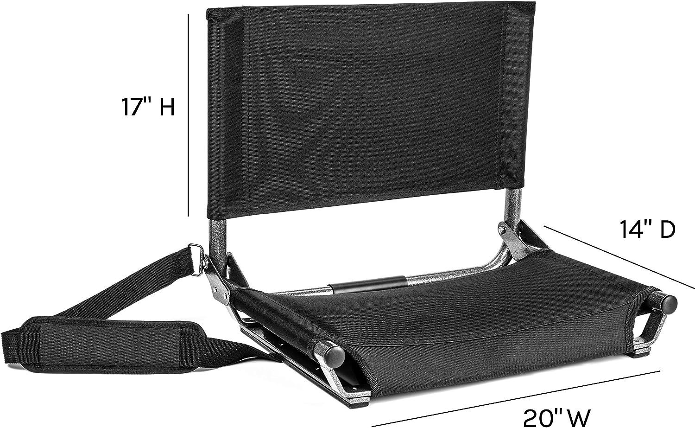 Cascade Mountain Tech Portable Folding Steel Stadium Seats