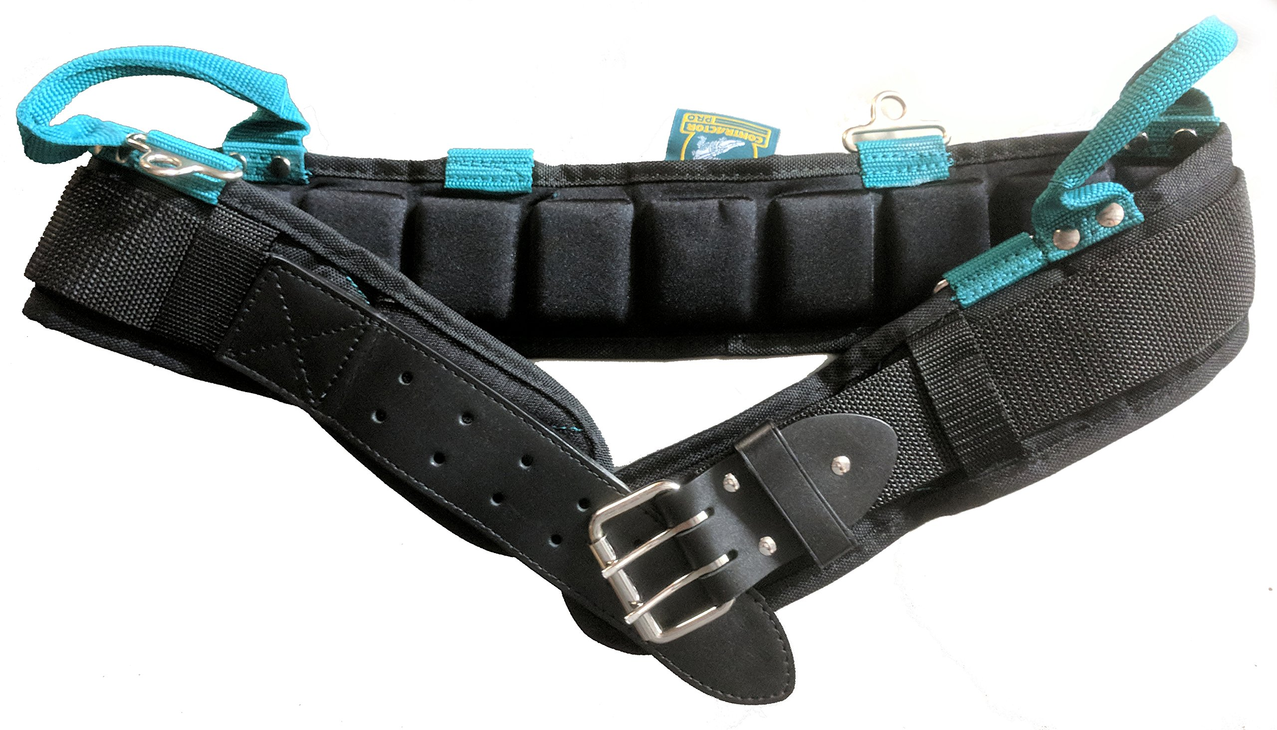 Gatorback Contractor Pro Professional Ventilated Comfort Belt Tool Pouch Ready. Ventilated Air Channels Designed for Comfort and Less Sweating (3XL 50-54 Inch Waist)