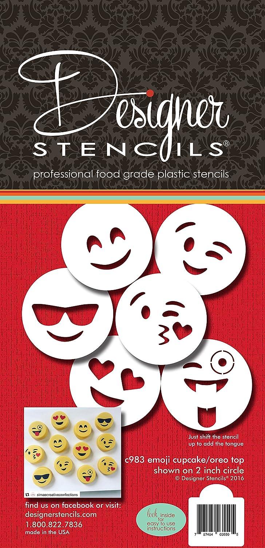 Emojis Cookie Stencil Set C983 by Designer Stencils 787484035505