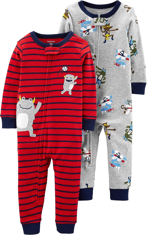 Carters Boys 2-Pack Cotton Footless Pajamas Sleepers