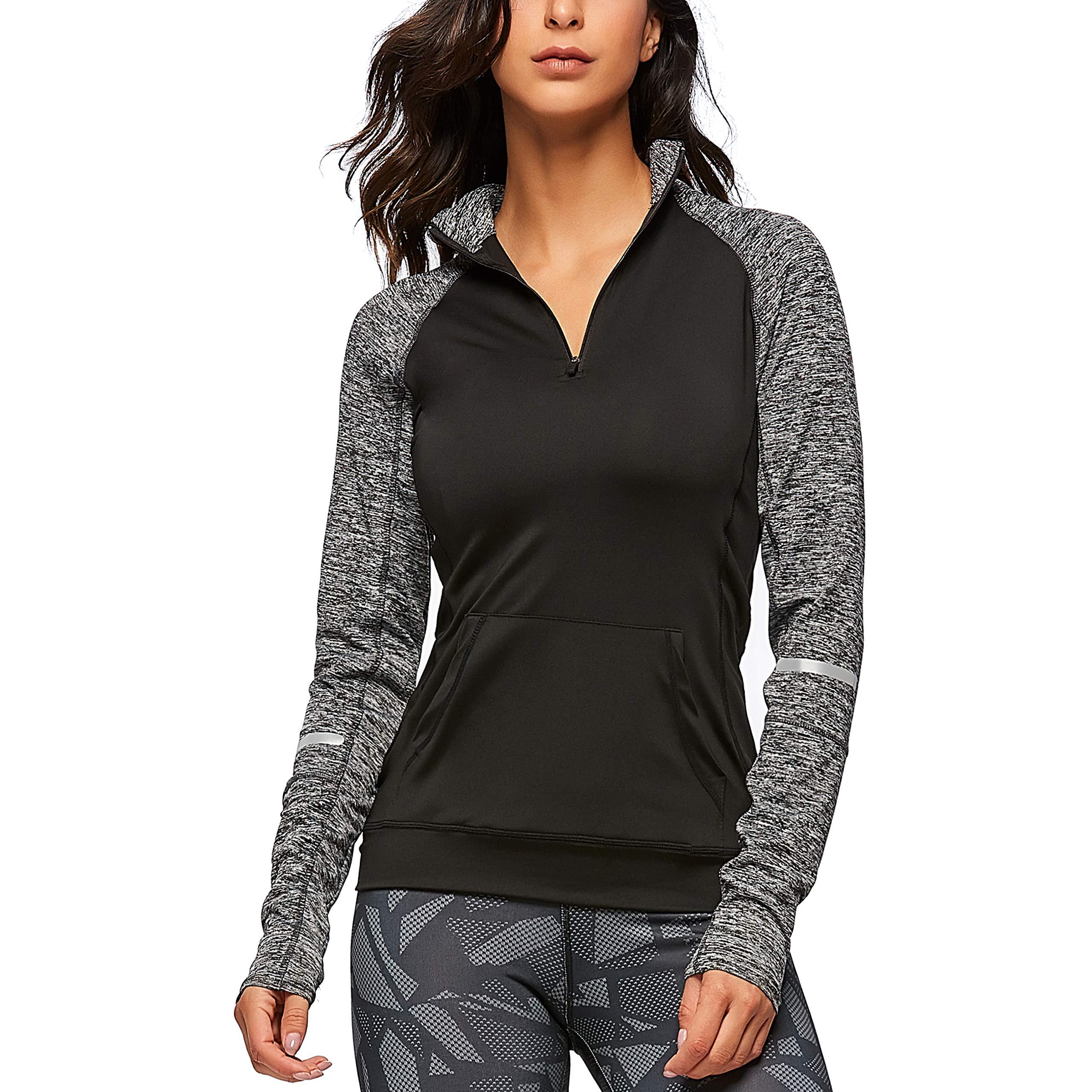 SEEU Sport Clothes for Women, Running Jackets X-Black S