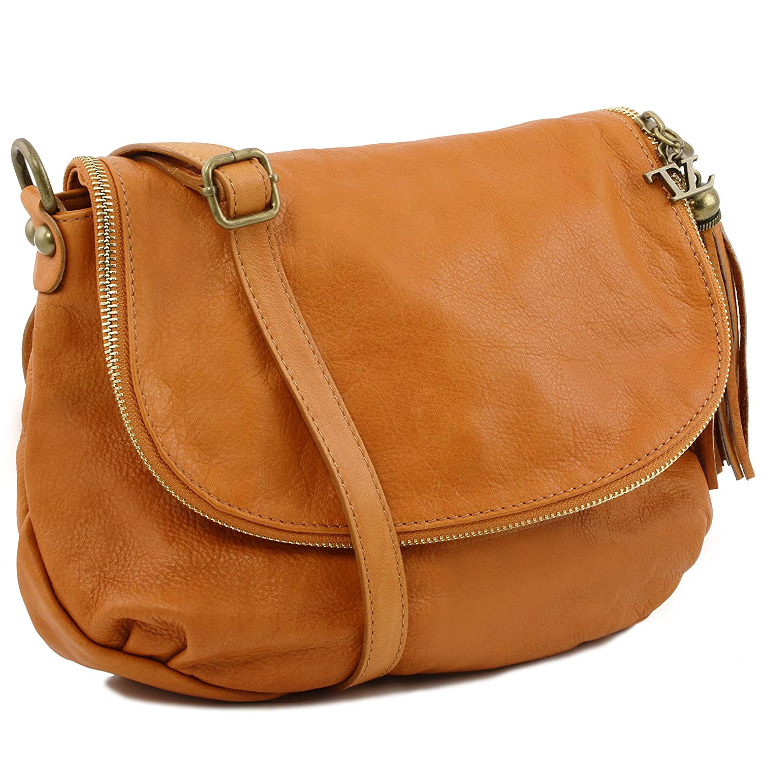 Amazon.com: Tuscany Leather TL Bag - Soft leather shoulder bag ...