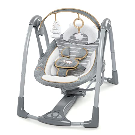 Ingenuity Boutique Collection Swing n Go Portable Swing – Bella Teddy