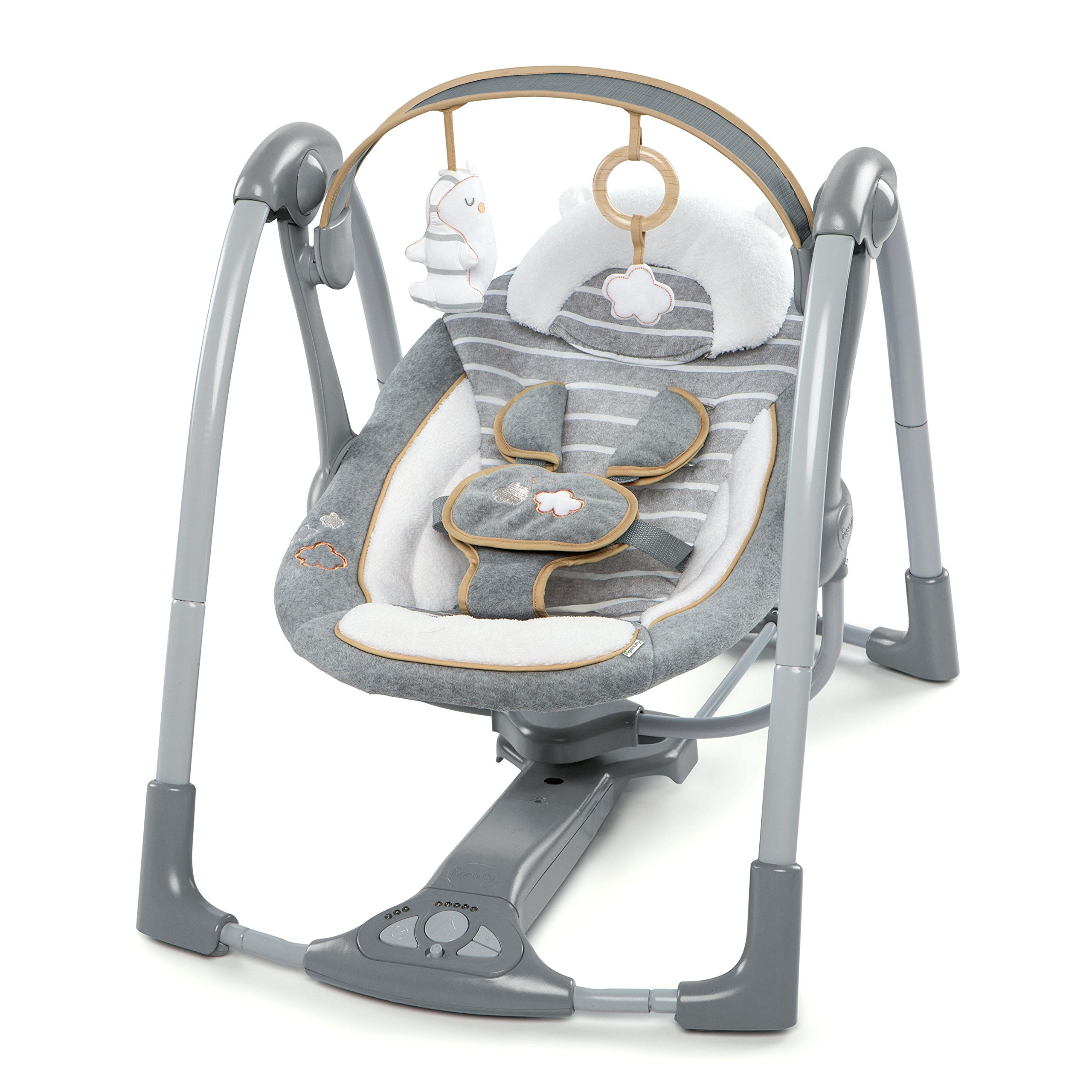 0ceb813525f Ingenuity Boutique Collection Swing  n Go Portable Swing - Bella Teddy