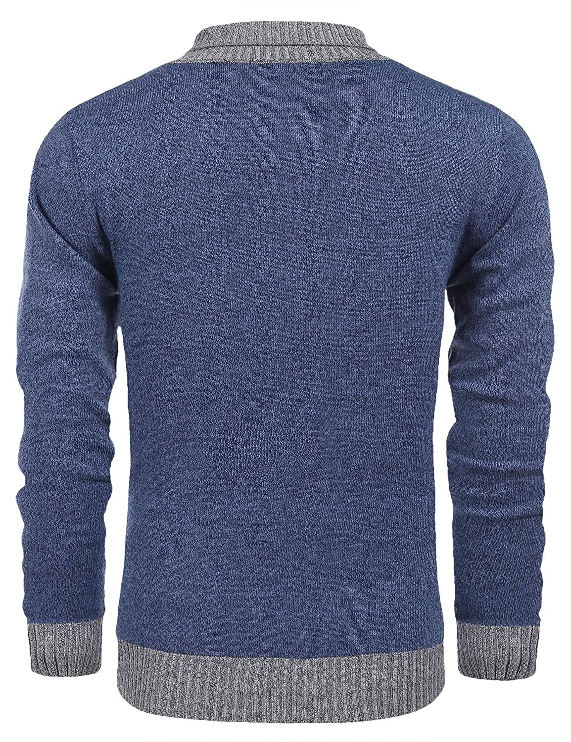 Coofandy Mens Knitted Sweaters Casual V-neck Slim Fit Pullover Knitwear
