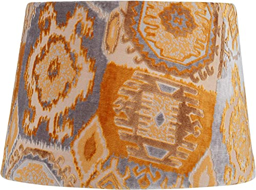 Orange Velvet Print Empire Lamp Shade 13x16x11 Spider – Springcrest