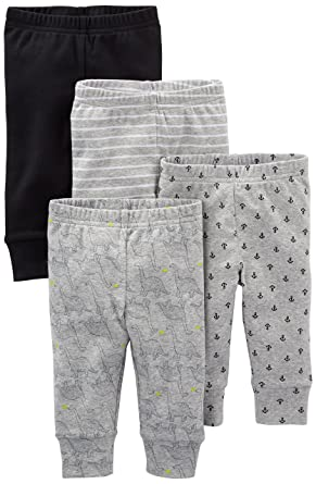 48ed2bcf4 Amazon.com  Simple Joys by Carter s Baby Boys  4-Pack Pant  Clothing
