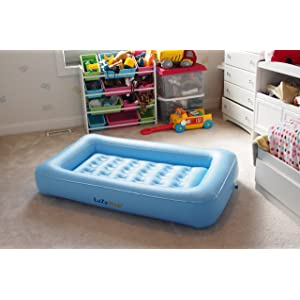 LazyNap LZ-04K Kids Air Mattress with Wrap-Around Bumpers, Soft Cover