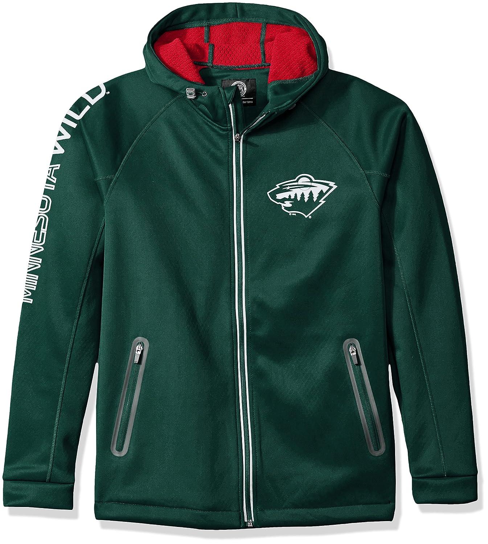 Green Medium NHL Mens Motion Full Zip Hooded Jacket