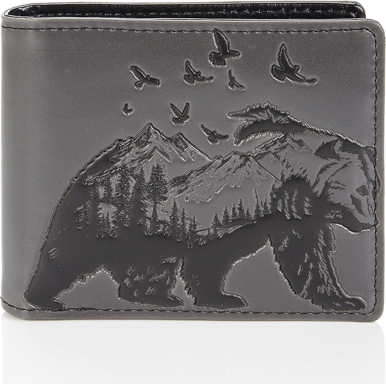 Shagwear - Monederos para hombre jóvenes: Varios colores y diseños: (oso de montaña/Mountain Bear)