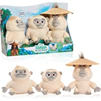 Disney Raya and The Last Dragon Chattering Ongis Plush, 3-Piece Set, Connecting Stuffed Animals with Sound