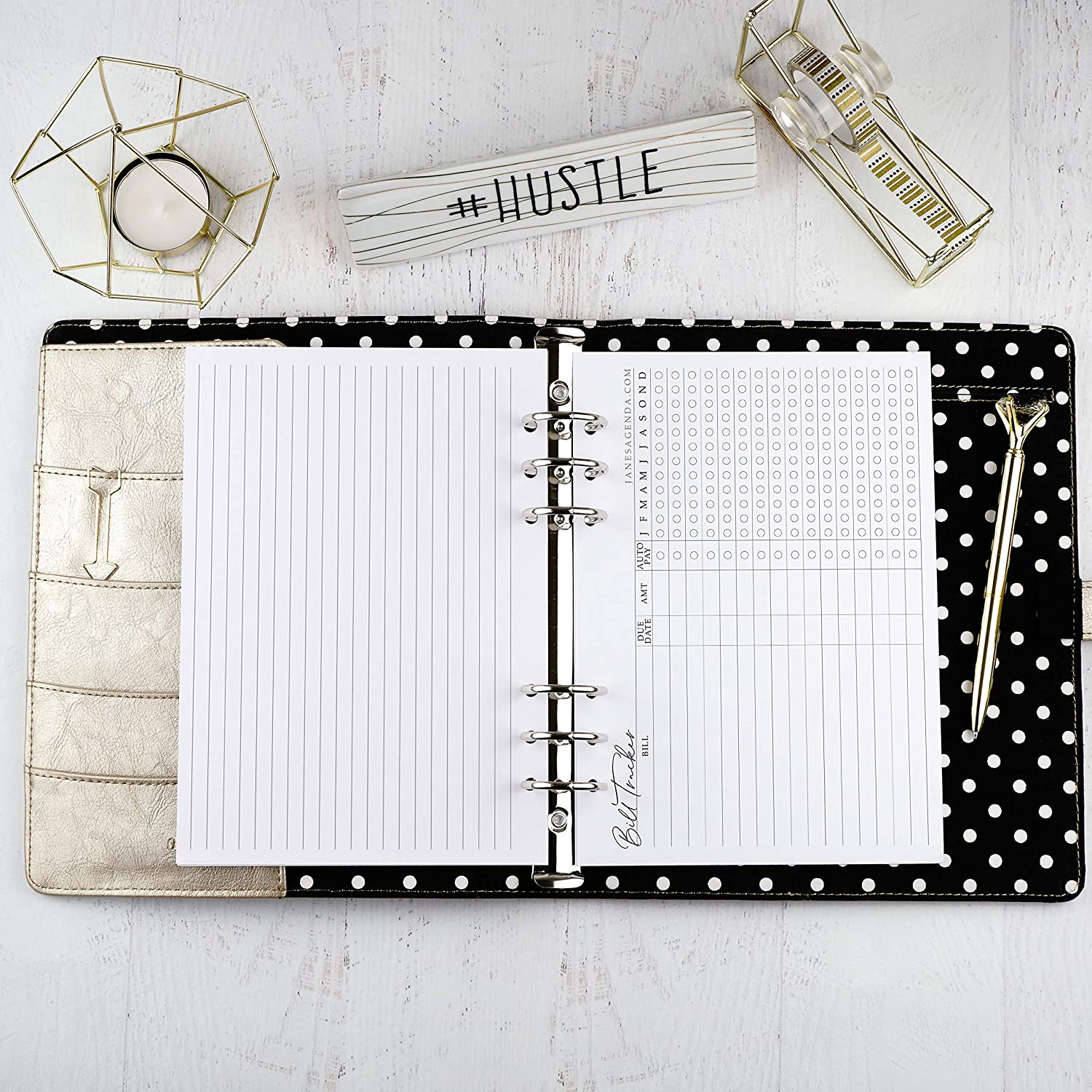 4.60x7.00 inches Refill for Mini Happy Planner Bills Tracker Planner Inserts