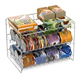 Lavish Classic Cuisine 3 Tier Dispenser-Organizer Rack Holds up to 27 Cans-for Kitchen Pantry, Countertops, and Cabinets-Stor