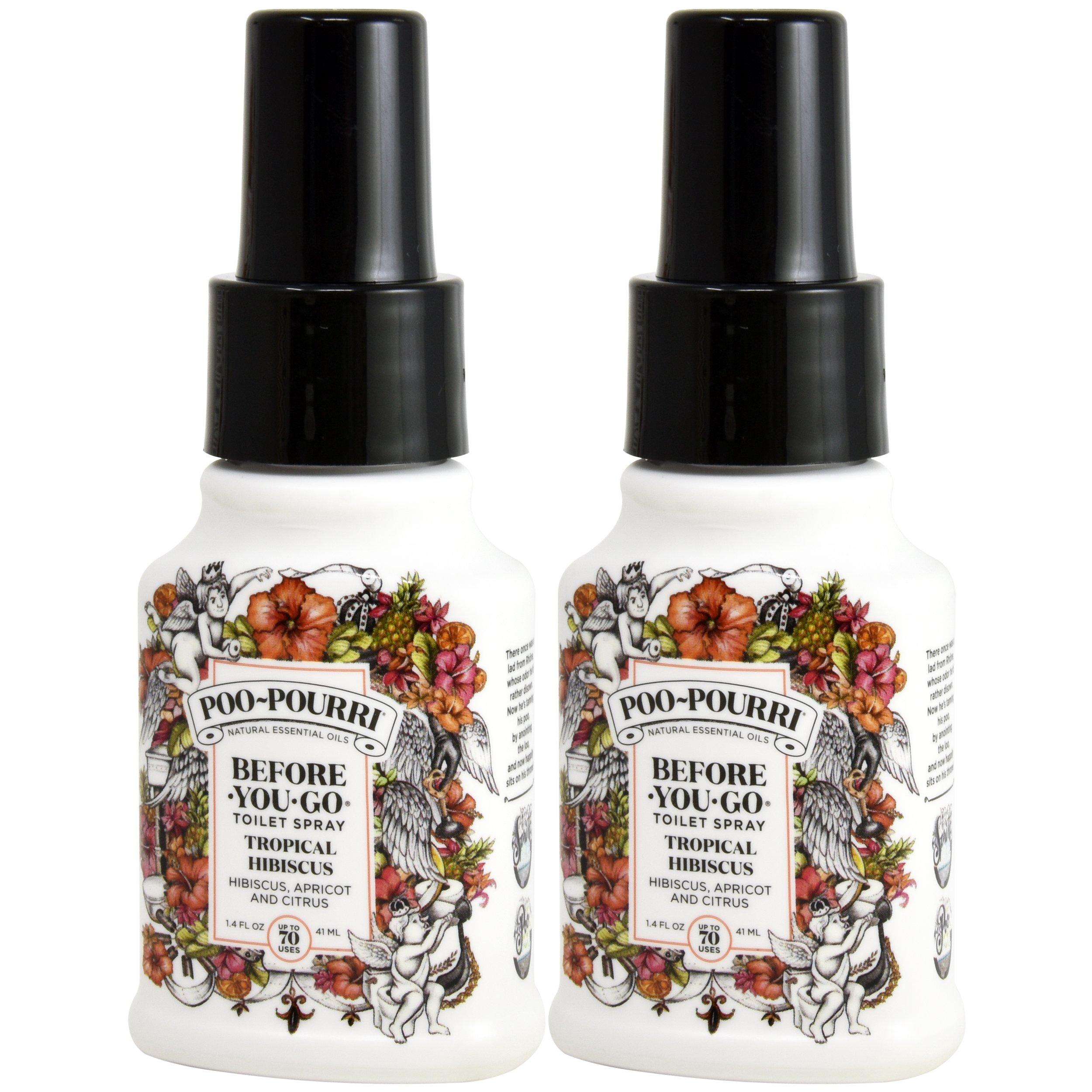 Poo-Pourri, Before-You-Go Bathroom Spray, Tropical Hibiscus - 1.4 oz, 2 Pack