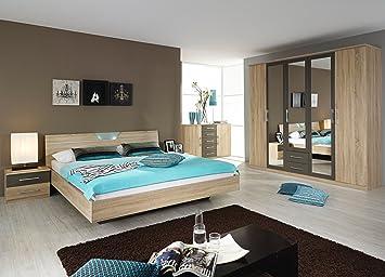 rauch Schlafzimmer Valence,4-teilig Eiche Sonoma/lavagrau Eiche ...