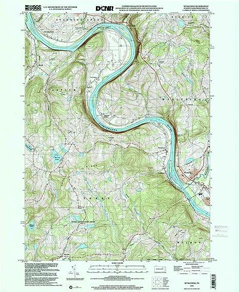 Amazon.com : YellowMaps Wyalusing PA topo map, 1:24000 Scale ...