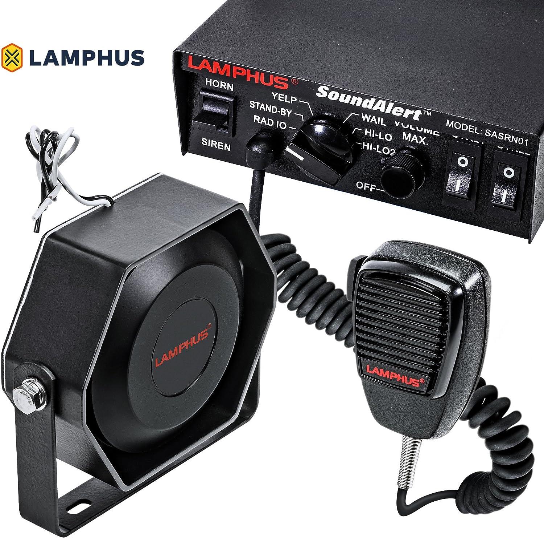 Amazon.com: SoundAlert 12V 100W Police Siren PA System [Slim Speaker]  [118-124dB] [Handheld Microphone] [Hands-Free] [2 x 20A Switches] Warning  Emergency Siren for Vehicles Truck UTV ATV Car POV: Automotive