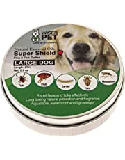 Natural Dog Flea Collar | Prevention and Control of Fleas, Ticks, Lice and Insects | Natural Chemical and Toxin Free | Safe for Pets and Family | Long Lasting up to 180 days!