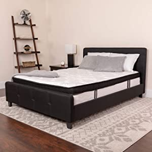 Flash Furniture Capri Comfortable Sleep 12 Inch Memory Foam and Pocket Spring Mattress, Full in a Box