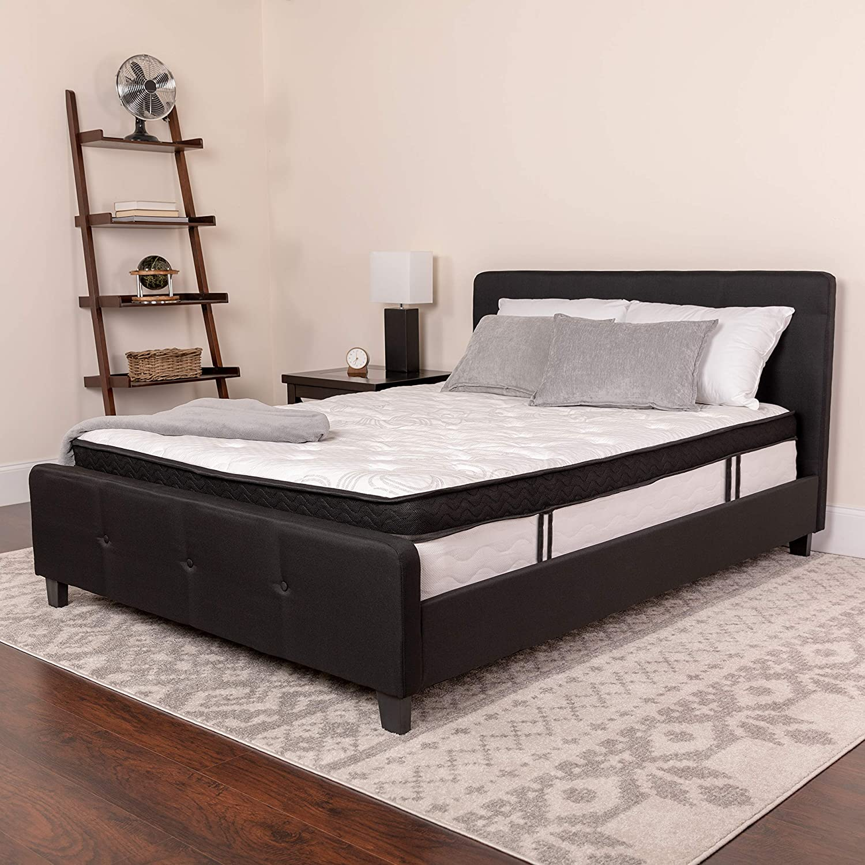 Full in a Box Capri Comfortable Sleep 12 Inch Foam and Pocket Spring Mattress