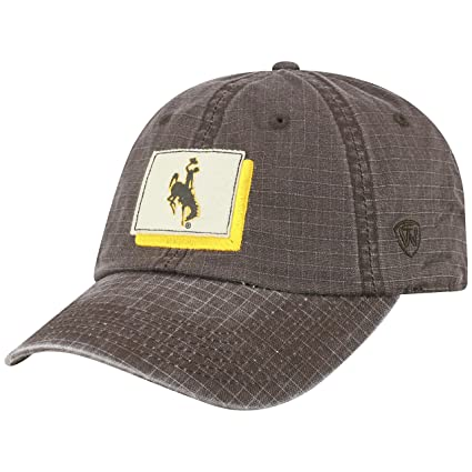 best website 7709a 13589 Image Unavailable. Image not available for. Color  Top of the World Wyoming  Cowboys Official NCAA Adjustable Stateline Cotton Hat Cap 457406