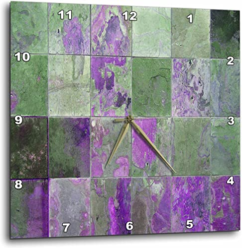 3dRose Purple Rusted Tile – Wall Clock, 13 by 13-Inch DPP_29112_2