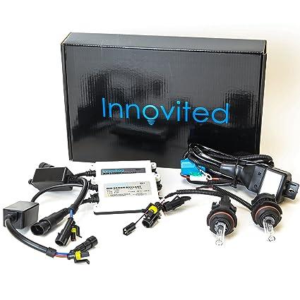 amazon com innovited ac 55w bi xenon hi low dual beam hid kit HID Conversion Kit innovited ac 55w bi xenon hi low dual beam hid kit 9004 9007