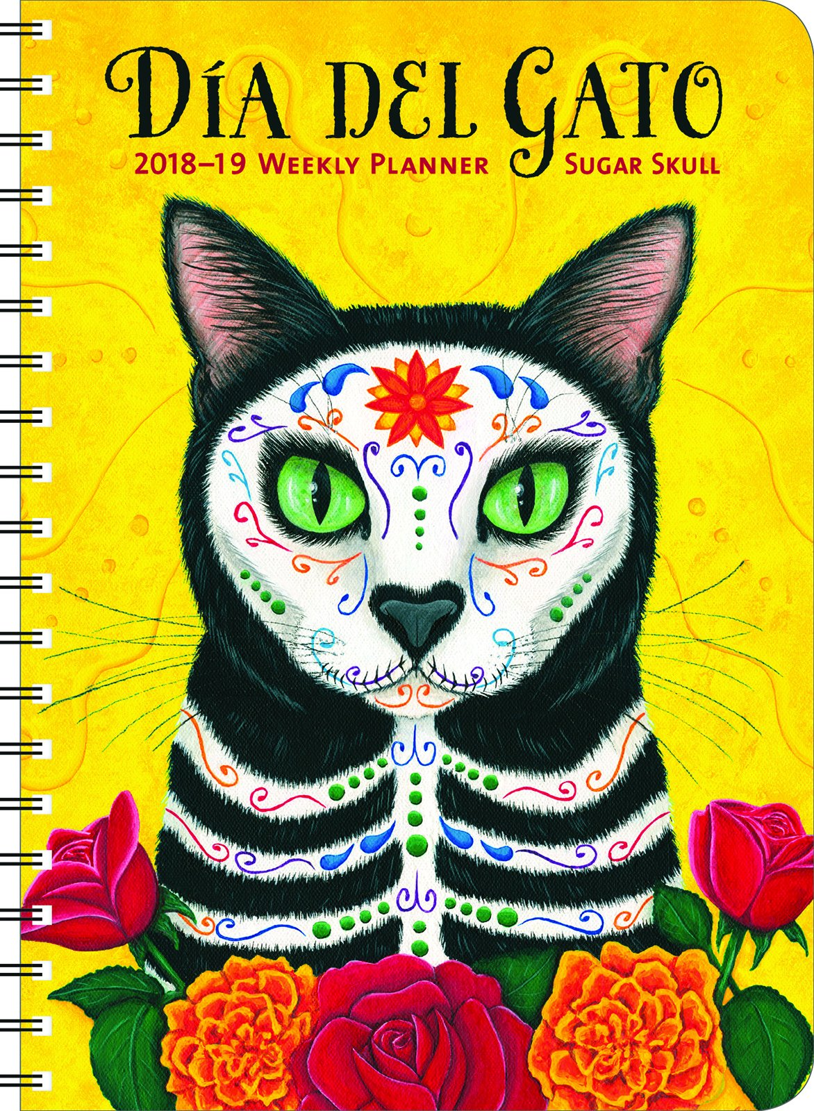 Sugar Skull 2018 - 2019 Weekly Planner: Dia del Gato: Amazon.es ...