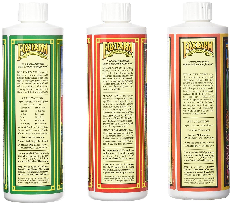 Amazon com : Fox Farm Liquid Nutrient Trio Soil Formula - Big Bloom