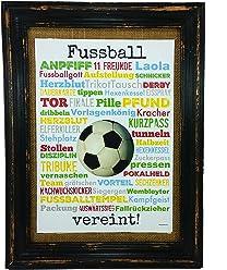 Fussball vereint! Druck Poster A4 Geschenk Derby Fußball Soccer Trainer Pokal Finale AnneSvea Typo Deko Mitbringsel Anpfiff Stadion Verein