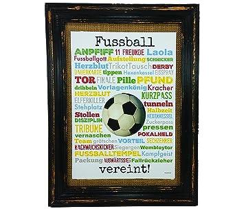 Fussball Vereint Druck Poster A4 Geschenk Derby Fussball