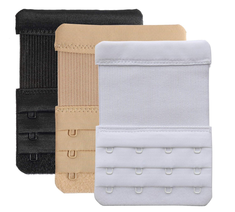1257b5ca4b Bra Extender 4 Hooks Women Bra Strap Extenders Pack of 3 Soft Comfortable  at Amazon Women s Clothing store