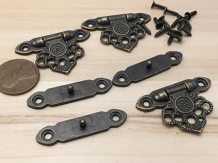 1 piece Brass 37mm x 25 Lock key Cigar Wood Box Case Latch Clasp C22