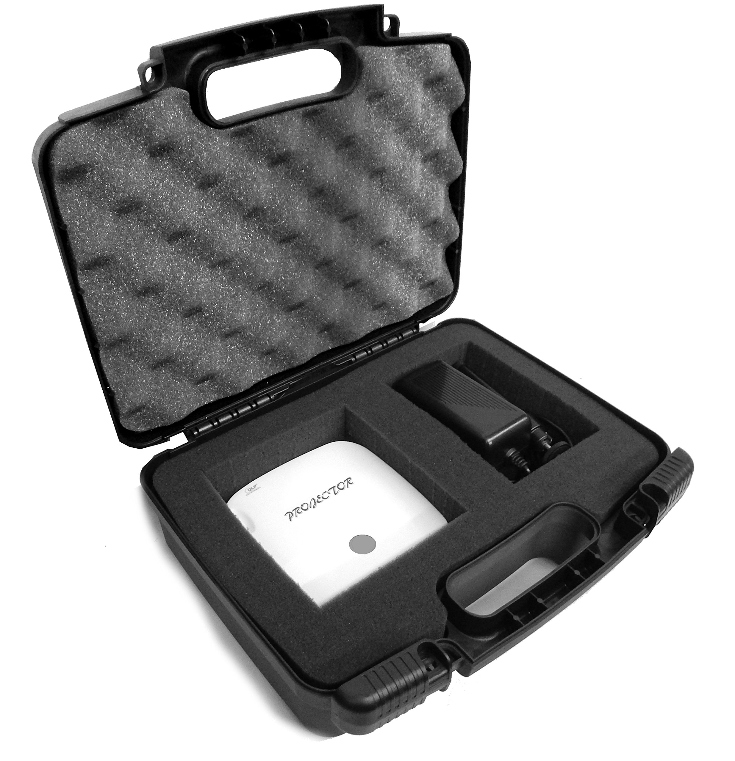 SAFE n SECURE Portable Video Projector Hard Case with Diced Foam for Optoma IntelliGO-S1/GT750ST/ML750ST