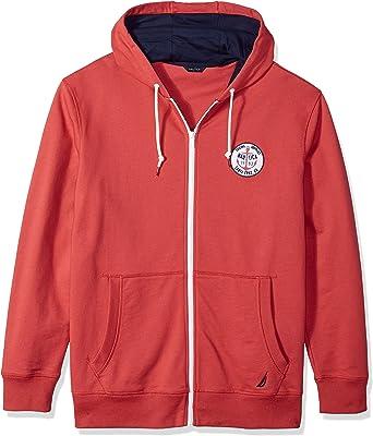 Nautica Mens Long Sleeve Artist Series Full Zip Hoodie Sweatshirt