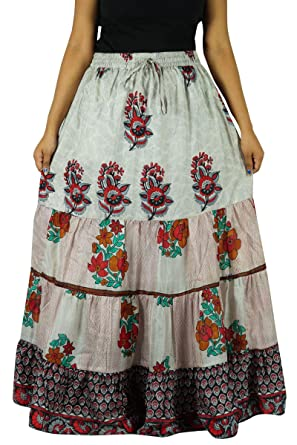 Indianbeautifulart Sari de Seda Pura artesanía Vestido de Las ...