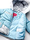 London Fog Girls' Toddler Snowsuit with Snowbib and Puffer Jacket, September Sky Foil, 3T