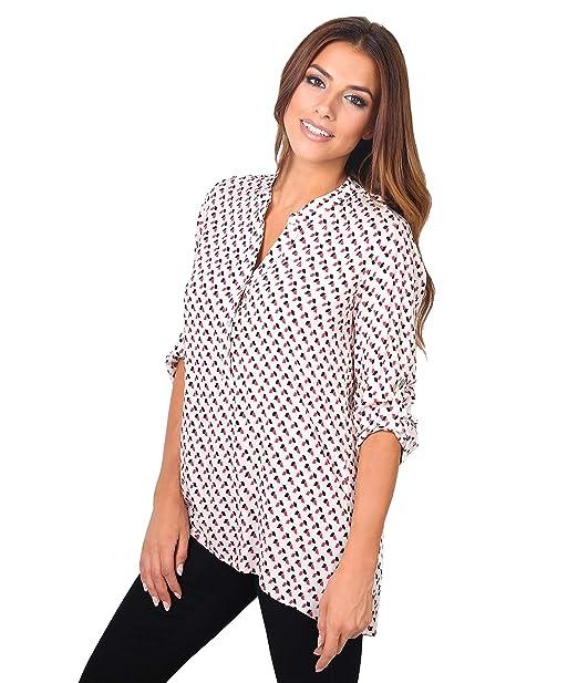Blusa Estampado Geométrico[Crema,38]