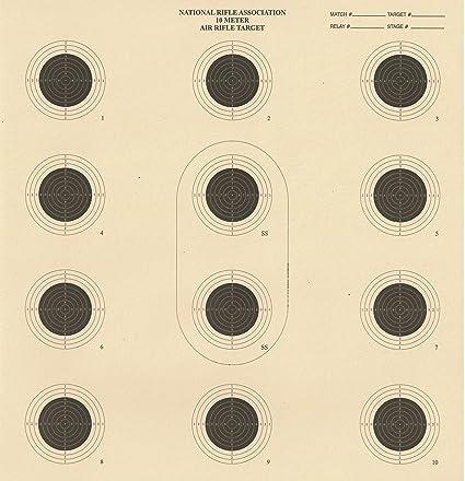 DOMAGRON 10 Meter 12 Bullseye Air Rifle Target Official NRA Target AR5/10