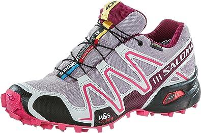 SalomonSpeedcross 3 Gtx - Zapatillas de Running para Asfalto Mujer , mujer, L37321900, rosa, 37 1/3 EU: Amazon.es: Deportes y aire libre