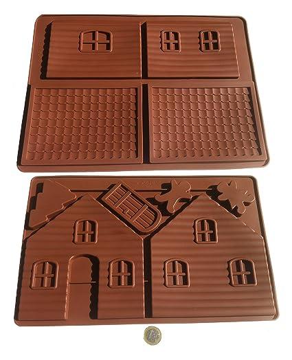 Casa de chocolate Diseño de casa de brujas bebé molde de silicona molde de silcicona para